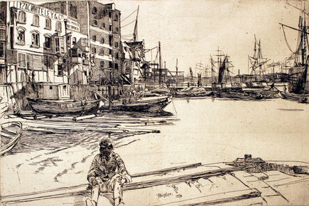James Abbott McNeill Whistler, 'Eagle Wharf', 1859