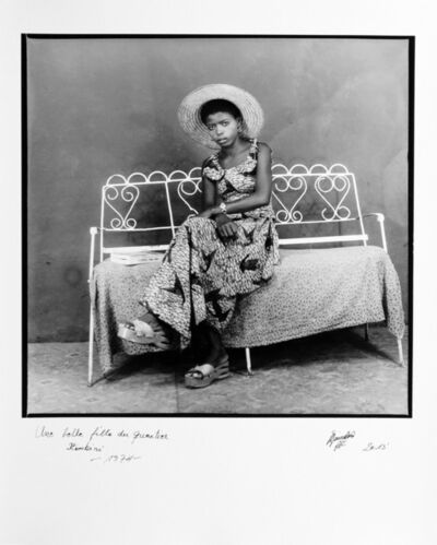 Ambroise Ngaimoko, 'Une belle fille du quartier Itimbiri', 1974