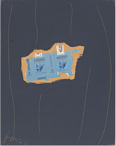 Robert Motherwell, 'Gauloises on Grey #26', 1972
