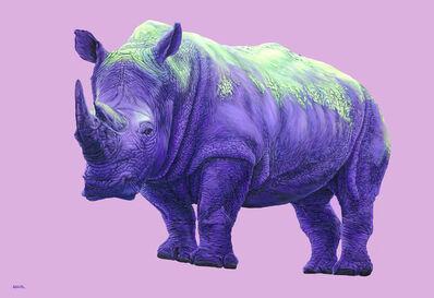 Helmut Koller, 'Purple Rhinoceros', 2010