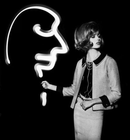 William Klein, 'Dorothy + Light Face', 1962