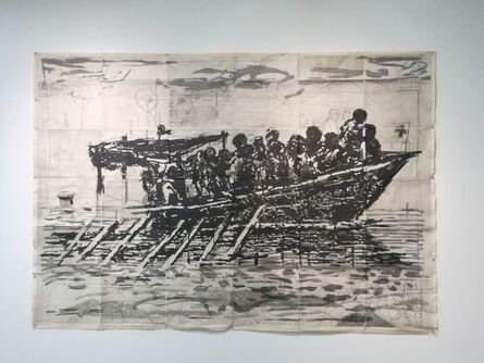 William Kentridge, 'Refugees (You will find no other seas)', 2017