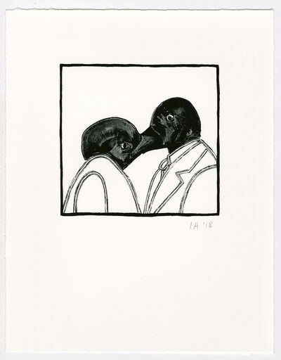 Ida Applebroog, 'Untitled (Kissing Birds)', 2018