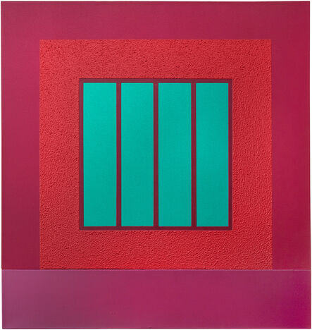 Peter Halley, 'Magenta Prison', 2002