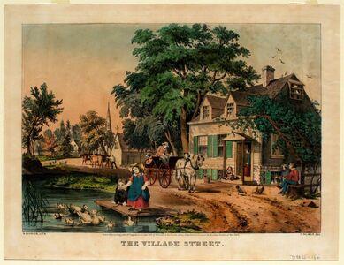 Nathaniel Currier, 'The Village Street', 1855