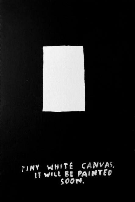 Alejandro Magallanes, 'Tiny White Canvas', 2018