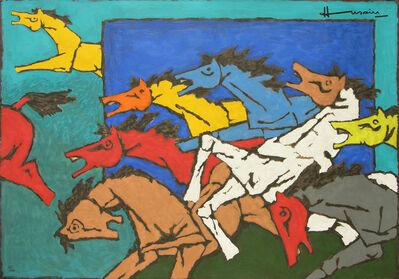 M. F. Husain, 'Horses (Appropriation', 2009
