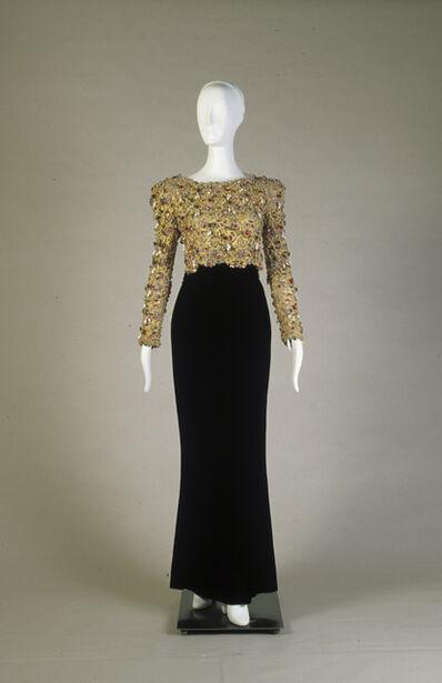 Oscar de la Renta, 'Evening ensemble; dress and overbodice', 1984