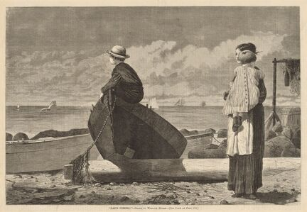 """After Winslow Homer, '""""Dad's Coming!""""', published 1873"""