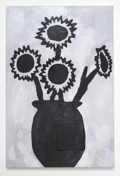 Donald Baechler, 'BLACK FLOWERS', 2013