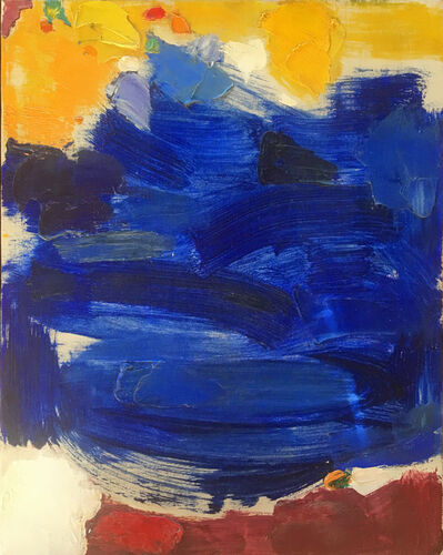 Adeine de la Noe, 'Untitled Abstract Yellow & Blue', ca. 1960s
