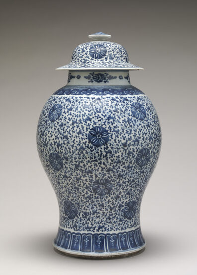 'Blue and White Jar with Cover', 18th century