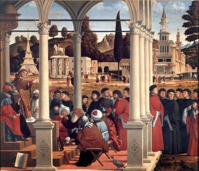Vittore Carpaccio, 'The disputation of St. Stephen', 1514