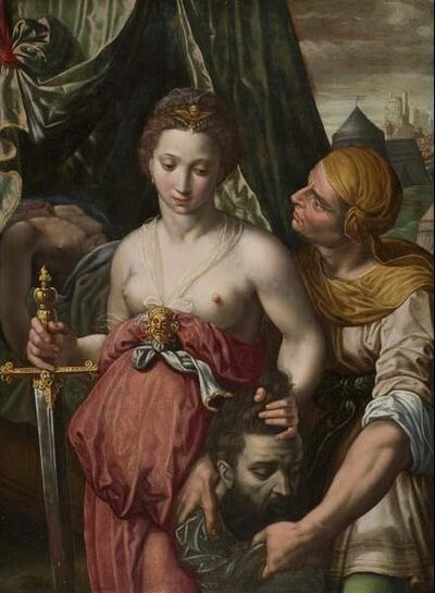 Vincent Sellaer (attributed to), 'Judith with the Head of Holofernes', 3rd quarter 16th century