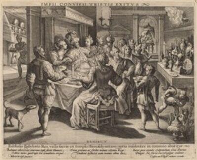 Crispijn de Passe I after Maarten de Vos, 'Belshazzar's Feast'