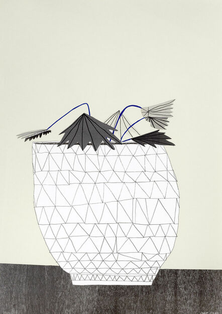 Jonas Wood, 'Untitled, Pot with Plant', 2009