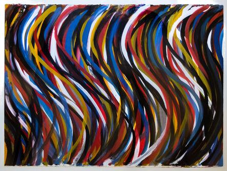 Sol LeWitt, 'Irregular Vertical Brushstrokes with Colors Superimposed', 1993