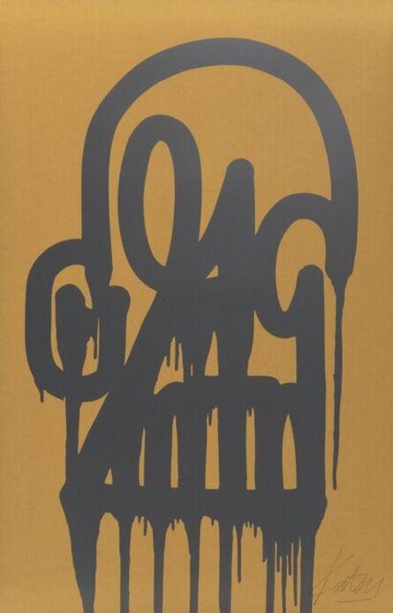 KATSU, 'Timeless Skull (Silver/Gold)', 2015