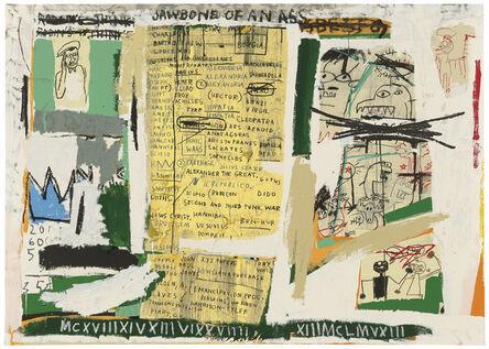 Jean-Michel Basquiat, 'Jawbone Of An Ass', 1982