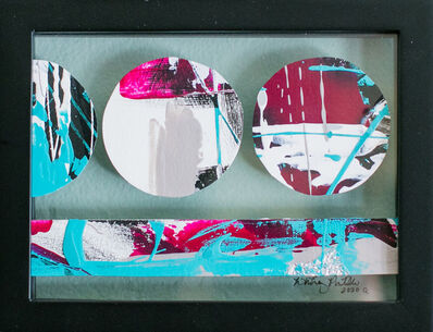Whitney Pintello, 'Portholes 4- Circular Contemporary Abstractions in Float Frame', 2020