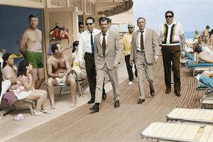 Terry O'Neill, 'Frank Sinatra, Miami Boardwalk - Colour', 1968