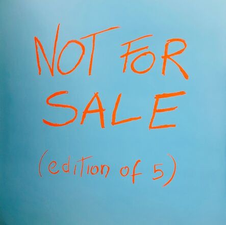 Daniele Sigalot, 'Not For Sale', 2018