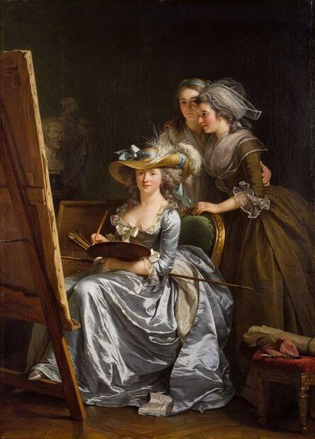 Adélaïde Labille-Guiard, 'Self-Portrait with Two Pupils', 1785