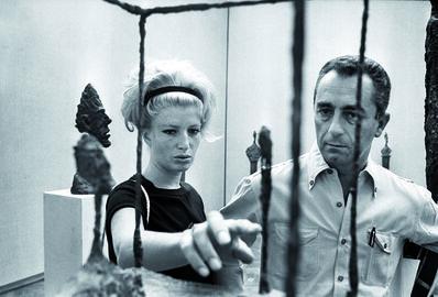 Michelangelo Antonioni, 'Monica Vitti and Michelangelo Antonioni at the Venice Biennale (La Biennale di Venezia) ', 1962