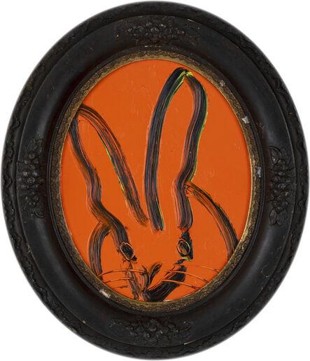 Hunt Slonem, 'Untitled, Oval Orange Bunny', 2019