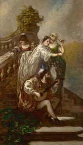 Adolphe Monticelli, 'The Peacock Garden', ca. 1860