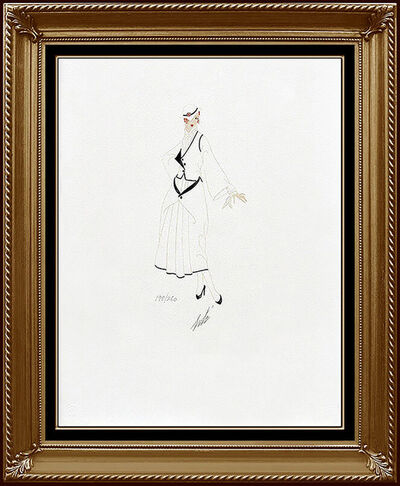 Erté (Romain de Tirtoff), 'ERTE Color Lithograph SIGNED DECO Artwork Costume Dress Design Renee Tirtoff SBO', 1970-1989