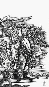 Julio Cesar Candelario, 'Wildfire Riders', 2015