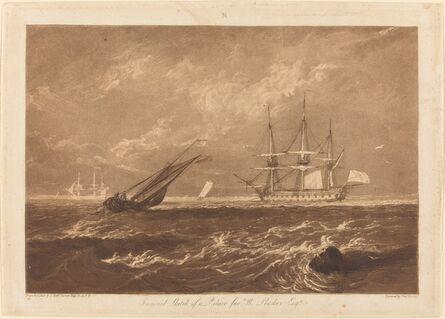 J. M. W. Turner, 'The Leader Sea Piece', published 1809