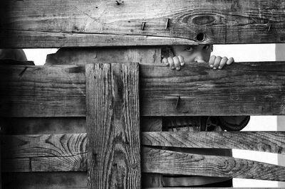 Guiseppe Aquili, 'Girl behind the Fence, Deir al Balah', 2011