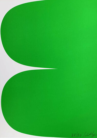 Ellsworth Kelly, 'Green Curves', 2013