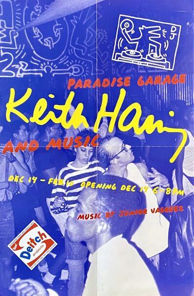 Keith Haring, 'Keith Haring Paradise Garage exhibit poster (Keith Haring Jeffrey Deitch)', 2000