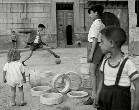 Herbert List, 'Soccer in the street. Sicily, Italy. ', 1950