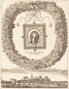 François Le Febvre, 'La veue du Pont Neuf; Louis XIV Roy de Franceet de Navarre', probably 1665