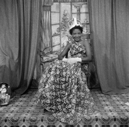 James Barnor, 'Naa Jacobson as Ballroom Queen, Ever Young studio, Accra, c. 1955 ', 2019