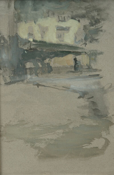 James Abbott McNeill Whistler, 'Penthouse of the Public House in St. Ives, Cornwall', ca. 1883