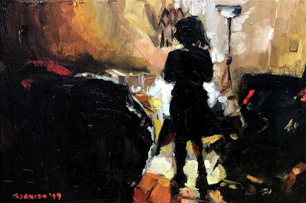Miguel Ángel Garrido, 'Silueta en el cuarto', 2017