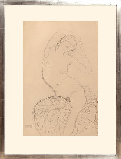 Gustav Klimt, 'Weiblicher Akt, sitzend. Female Nude Seated.', 1919