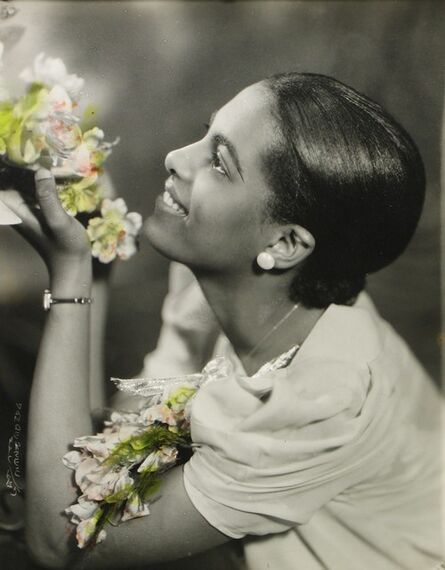 James Van Der Zee, 'Lady with Two Corsages', 1935