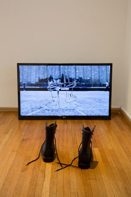Israel Martínez, 'Con las botas puestas', 2017