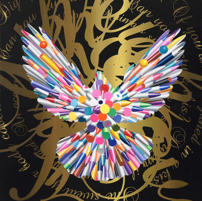 Hong Kyoung Tack, 'Pens-When Doves Fly', 2016