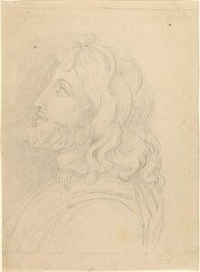 John Flaxman, 'Bust of a Bearded Man Looking Up'