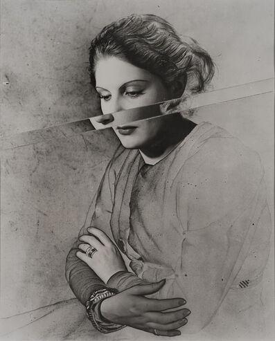 Erwin Blumenfeld, 'Portrait, Solarised and Cut', 1937