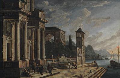 Neapolitan follower of Viviano Codazzi, 'A Mediterranean port scene'