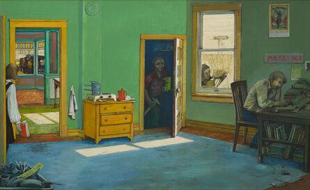 William Kurelek, 'Studying in Winnipeg', 1964