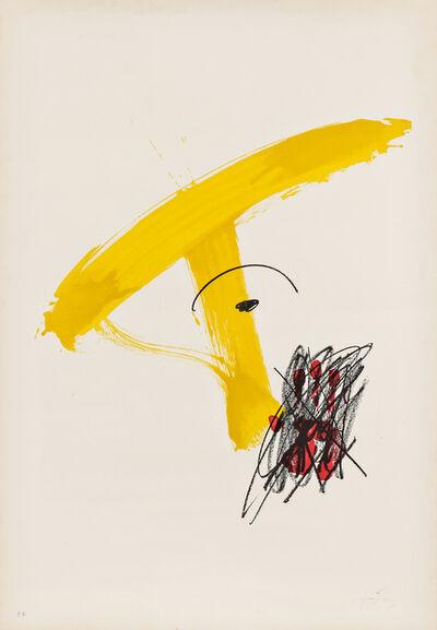 Antoni Tàpies, 'Untitled from the suite Als mestres de Catalunya', 1974